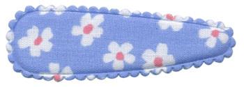 Haarkniphoesje licht blauw met bloem 5 cm (ca. 20 stuks)