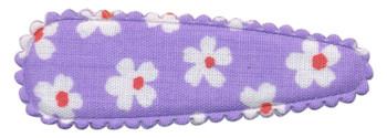 Haarkniphoesje lila met bloem 5 cm (ca. 100 stuks)