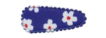 Haarkniphoesje kobalt blauw met bloem 3 cm (ca. 20 stuks)