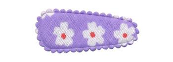 Haarkniphoesje lila met bloem 3 cm (ca. 100 stuks)