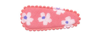 Haarkniphoesje zalmroze met bloem 3 cm (ca. 20 stuks)