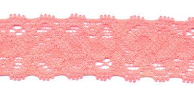Elastisch kant NEON-roze/zalmroze ca. 22 mm (ca. 10 m)