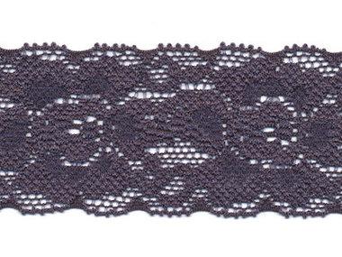 Elastisch kant donker blauw/grijs ca. 35 mm (ca. 10 m)
