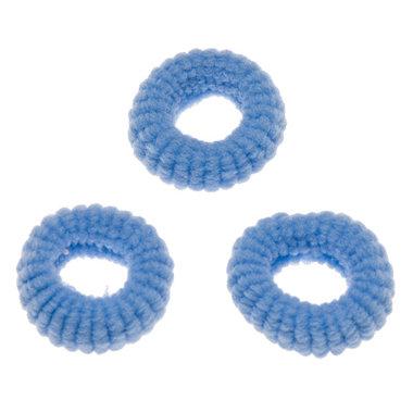 Badstof haarelastiek blauw (ca. 25 stuks)
