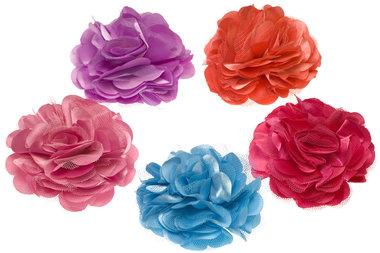 Bloem XL stof mix heldere kleuren ca. 8 cm (100 stuks)