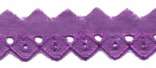 Broderie paars 25 mm (ca. 13,5 m)
