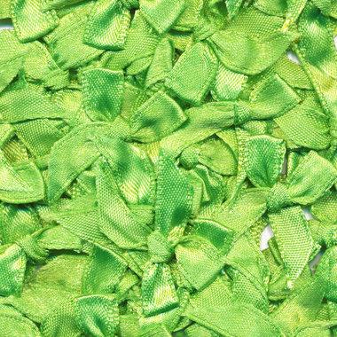 Satijnen strikjes appelgroen (ca. 100 stuks)