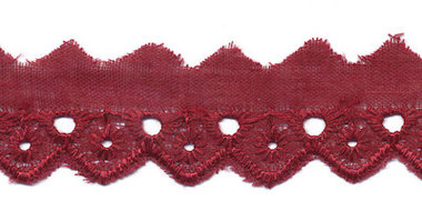 Broderie bordeaux 25 mm (ca. 13,5 m)
