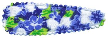 Haarkniphoesje blauw met zomerse bloem 5 cm (ca. 100 stuks)