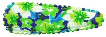 Haarkniphoesje groen met zomerse bloem 5 cm (ca. 100 stuks)