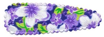 Haarkniphoesje lila met zomerse bloem 5 cm (ca. 100 stuks)