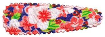 Haarkniphoesje rood met zomerse bloem 5 cm (ca. 100 stuks)