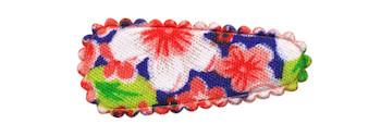 Haarkniphoesje rood met zomerse bloem 3 cm (ca. 100 stuks)