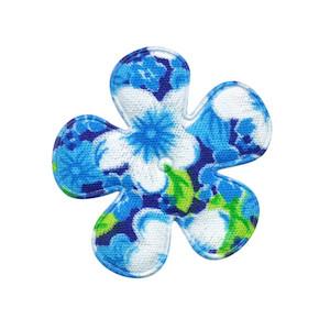 Applicatie bloem aqua met zomerse bloem middel 35 mm (ca. 100 stuks)