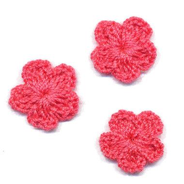 Gehaakt bloemetje meloen 20 mm (10 stuks)