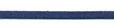 Imitatie suede veter marine blauw 3 mm (ca. 10 m)