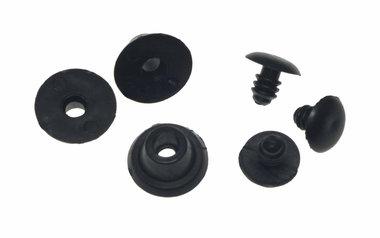 Tasvoetjes kunststof zwart klein (ca. 100 stuks)