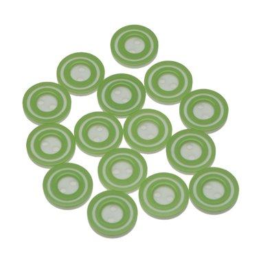 Knoop 'donut' mini appel groen 10 mm (ca. 100 stuks)