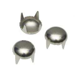Ronde stud zilverkleurig 9 mm (ca. 100 stuks)