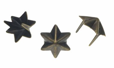 Stervormige stud bronskleurig 15 mm (ca. 100 stuks)