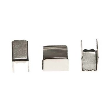 Metalen veter-/koordklem 12x7 mm (ca. 100 stuks)