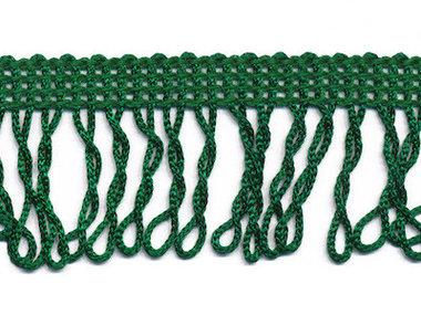 Franjeband gedraaid donkergroen ca. 32 mm (ca. 22 meter)
