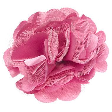 Bloem XL stof mix roze ca. 8 cm (5 stuks)