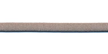 Satijnkoord licht-elastisch grijs 4x2 mm (ca. 10 m)