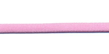 Satijnkoord licht-elastisch roze 4x2 mm (ca. 10 m)