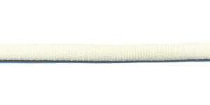 Satijnkoord licht-elastisch ivoor 4x2 mm (ca. 10 m)