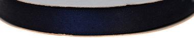 Donker blauw dubbelzijdig satijnband 13 mm (ca. 30 m)