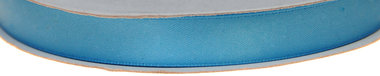 Licht blauw dubbelzijdig satijnband 13 mm (ca. 30 m)