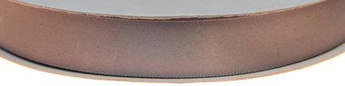 Grijs dubbelzijdig satijnband 15 mm (ca. 30 m)