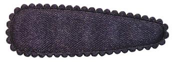 Haarkniphoesje satijn donker blauw 5 cm (ca. 20 stuks)