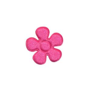 Applicatie bloem hard roze satijn effen klein 20 mm (ca. 100 stuks)