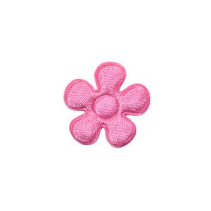 Applicatie bloem roze satijn effen klein 20 mm (ca. 25 stuks)