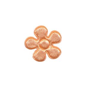 Applicatie bloem zalmroze satijn effen klein 20 mm (ca. 100 stuks)