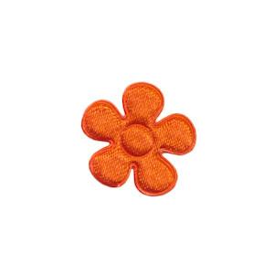 Applicatie bloem oranje satijn effen klein 20 mm (ca. 100 stuks)