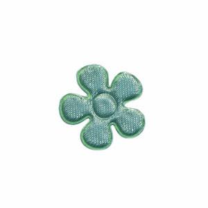 Applicatie bloem zeegroen satijn effen klein 20 mm (ca. 100 stuks)