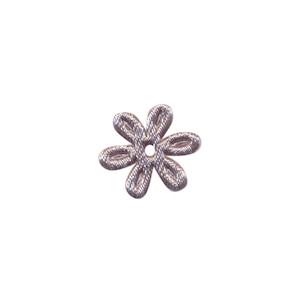 Applicatie bloem grijs satijn effen mini 18 mm (ca. 100 stuks)