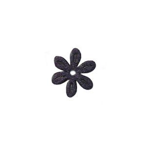 Applicatie bloem donker blauw satijn effen mini 18 mm (ca. 100 stuks)