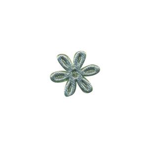 Applicatie bloem zeegroen satijn effen mini 18 mm (ca. 100 stuks)
