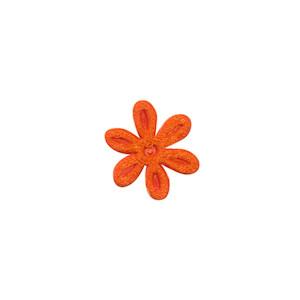Applicatie bloem oranje satijn effen mini 18 mm (ca. 100 stuks)