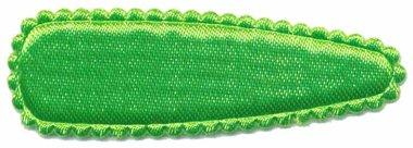 Haarkniphoesje satijn gifgroen 5 cm (ca. 100 stuks)