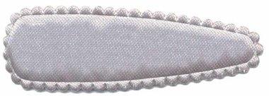 Haarkniphoesje satijn zilvergrijs 5 cm (ca. 20 stuks)