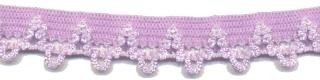 Elastisch kant lila met lusjes 12 mm (ca. 10 m)