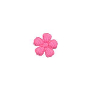 Applicatie bloem fuchsia vilt mini 15 mm (ca. 100 stuks)