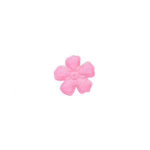Applicatie bloem roze vilt mini 15 mm (ca. 100 stuks)