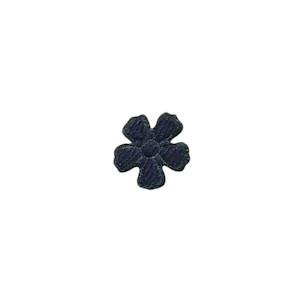 Applicatie bloem donker blauw vilt mini 15 mm (ca. 100 stuks)