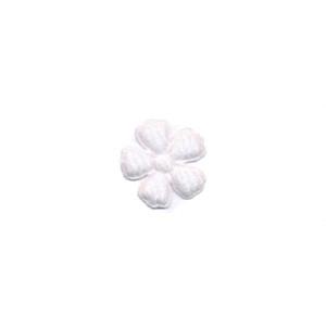 Applicatie bloem wit vilt mini 15 mm (ca. 100 stuks)